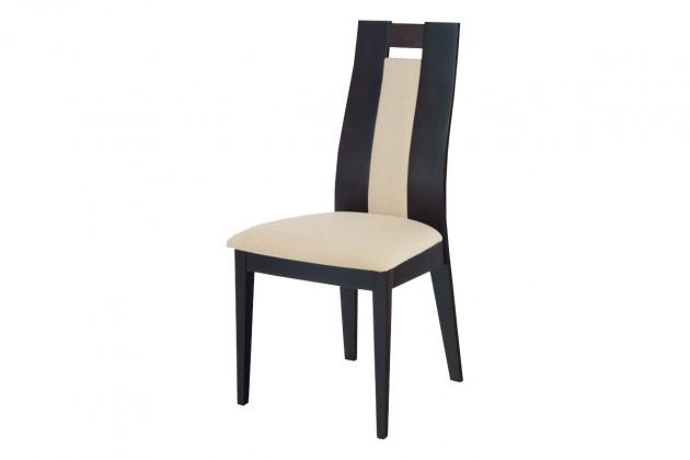 Stolička PRUNA(buk, morenie wenge,poťah krémový)