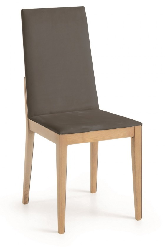 Stolička Rabida  (dub/navara tmavo sivá)