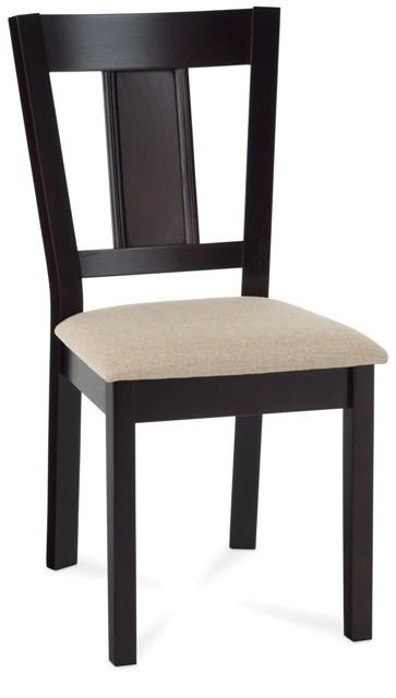 Stolička Russe (kaučukovník, morenie wenge, potah krémový)
