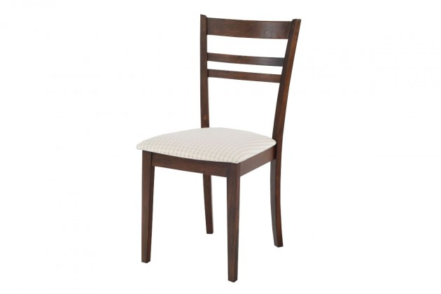 Stolička SARULE(kaučukovník, morenie orech,poťah světlý)