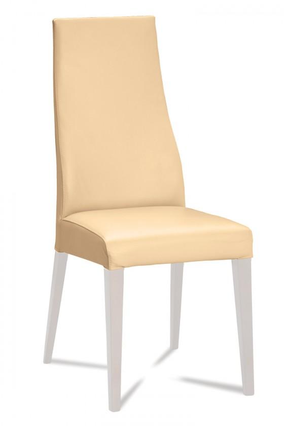 Stolička Semora (biela mat/eko kože kaiman slonová kost)