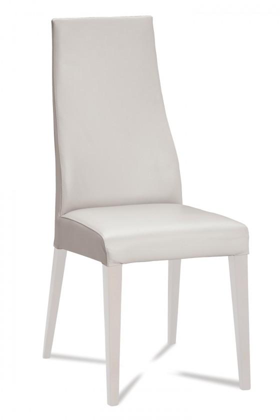 Stolička Semora (biela mat/eko kože vienna biela)