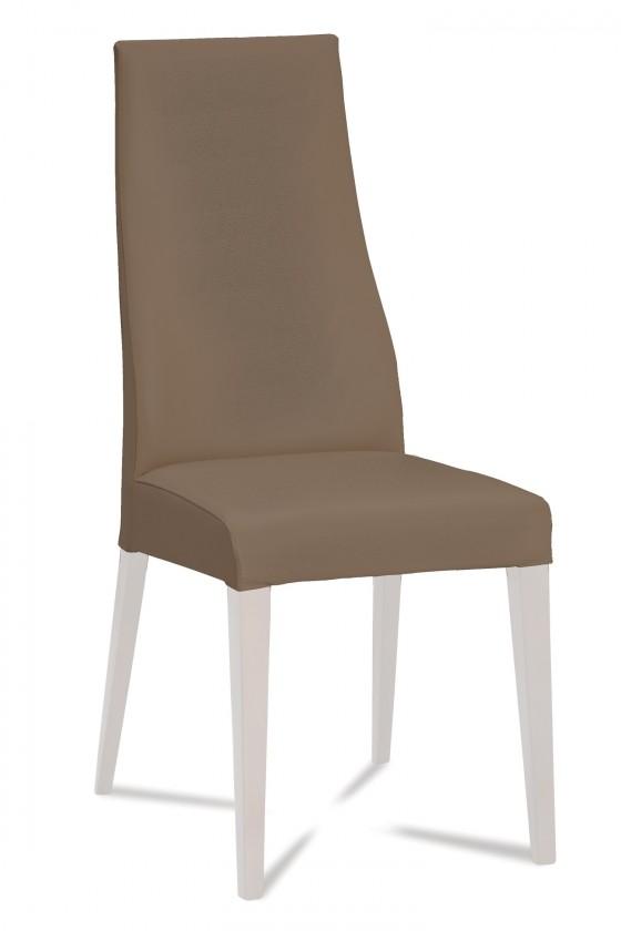 Stolička Semora (biela mat/látka carabu hnedá)