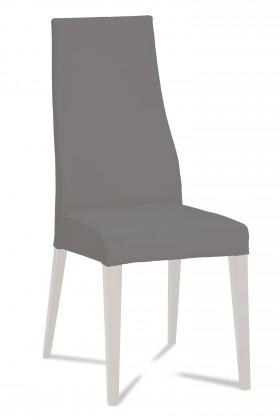 Stolička Semora (biela mat/látka navara sivá)