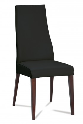Stolička Semora (wenge/eko kože vienna černá)