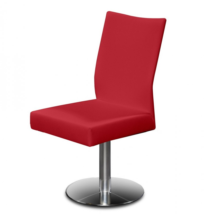 Stolička Set - centrálna noha (oceľ nerez, bordó)