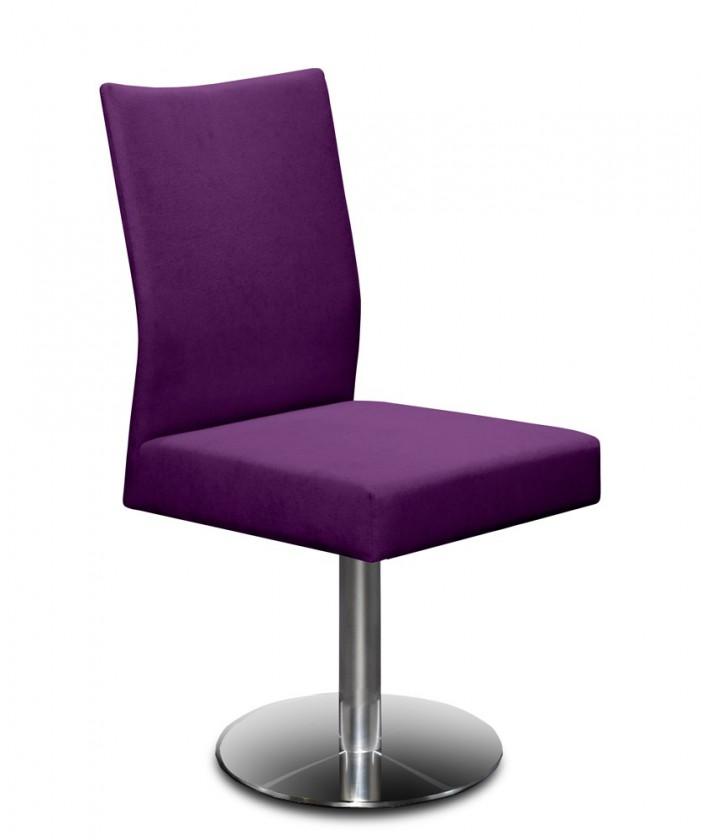 Stolička Set - centrálna noha (oceľ nerez, fialová)