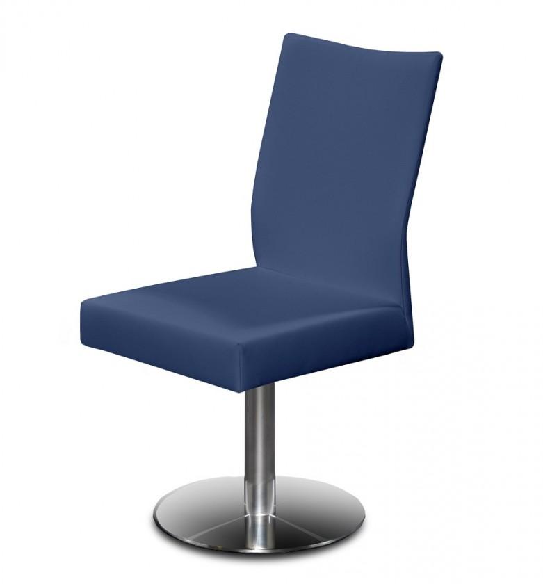 Stolička Set - centrálna noha (oceľ nerez, modrá)
