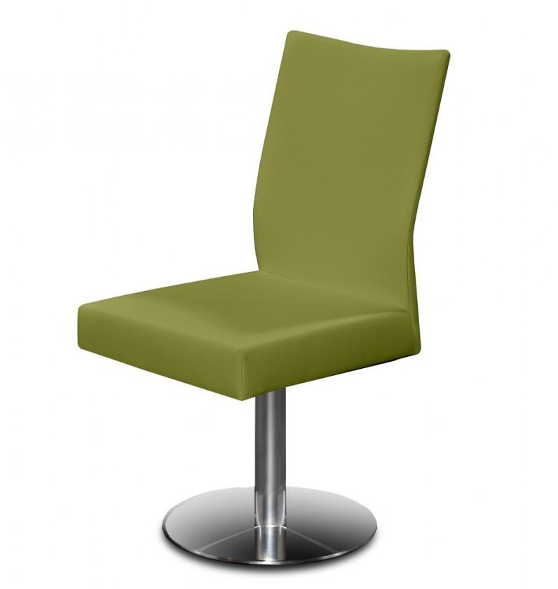 Stolička Set - centrálna noha (oceľ nerez, olivová)