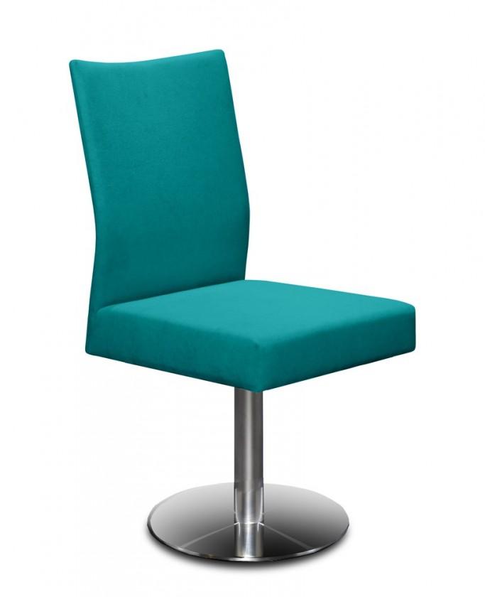 Stolička Set - centrálna noha (oceľ nerez, petrolejová)
