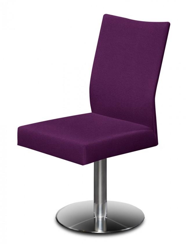 Stolička Set - centrálna noha (oceľ nerez, rubínová)