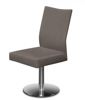 Stolička Set - centrálna noha (oceľ nerez, sivohnedá)
