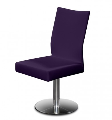 Stolička Set - centrálna noha (oceľ nerez, temne fialová)