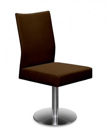 Stolička Set - centrálna noha (oceľ nerez, tmavo hnedá)