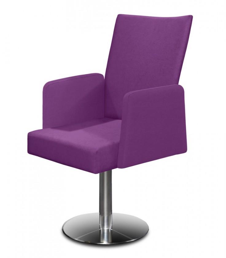 Stolička Set - centrálna noha, podrúčky (oceľ nerez, fialová)