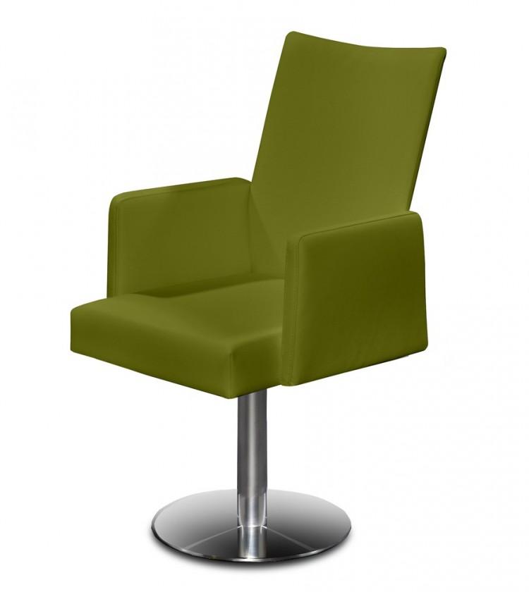 Stolička Set - centrálna noha, podrúčky (oceľ nerez, olivová)
