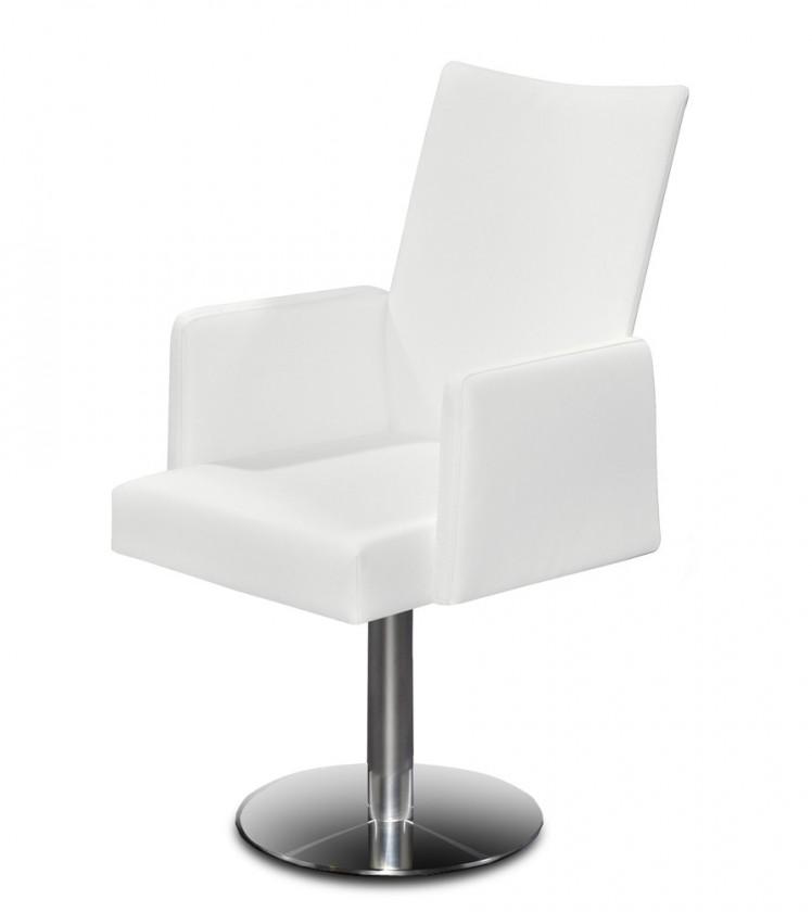Stolička Set - centrálna noha, podrúčky (oceľ nerez, slonová kosť)