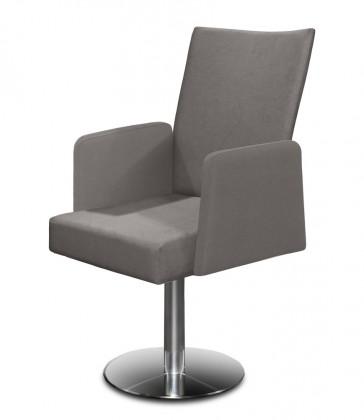 Stolička Set - centrálna noha, podrúčky (oceľ nerez, svetle sivá)