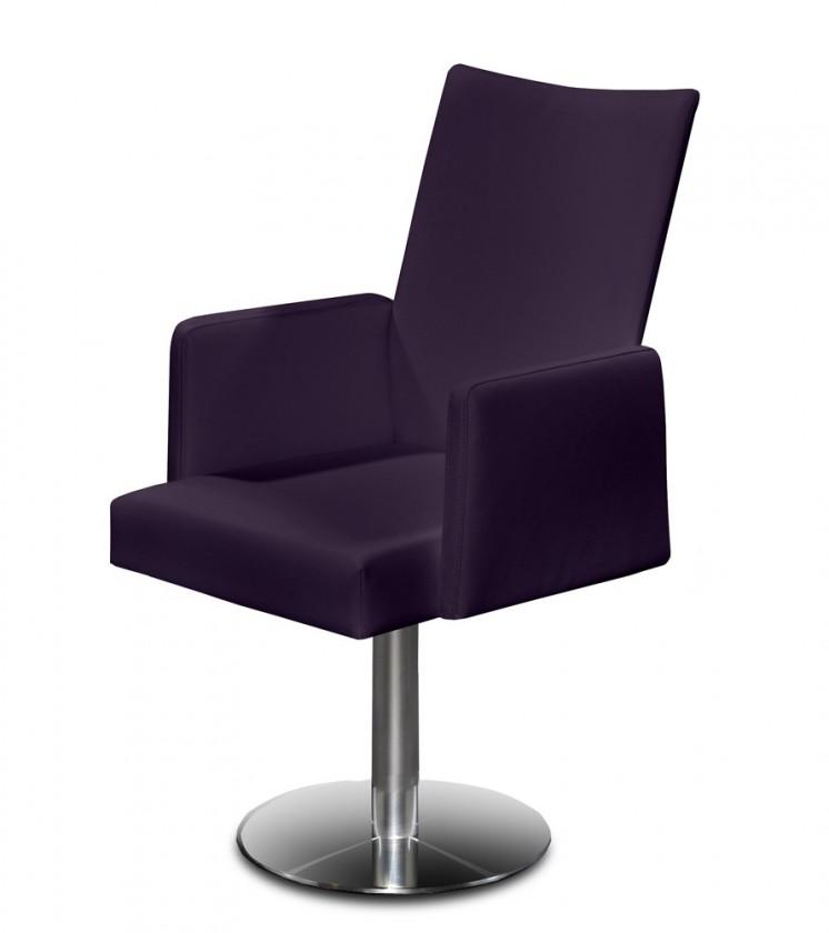 Stolička Set - centrálna noha, podrúčky (oceľ nerez, temne fialová)