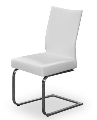 Stolička Set - hojdacia (oceľ nerez, eko kože biela)
