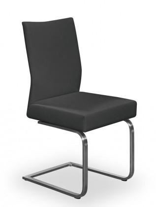 Stolička Set - hojdacia (oceľ nerez, eko kože čierna)