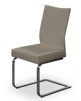 Stolička Set - hojdacia (oceľ nerez, eko kože svetle hnedá)