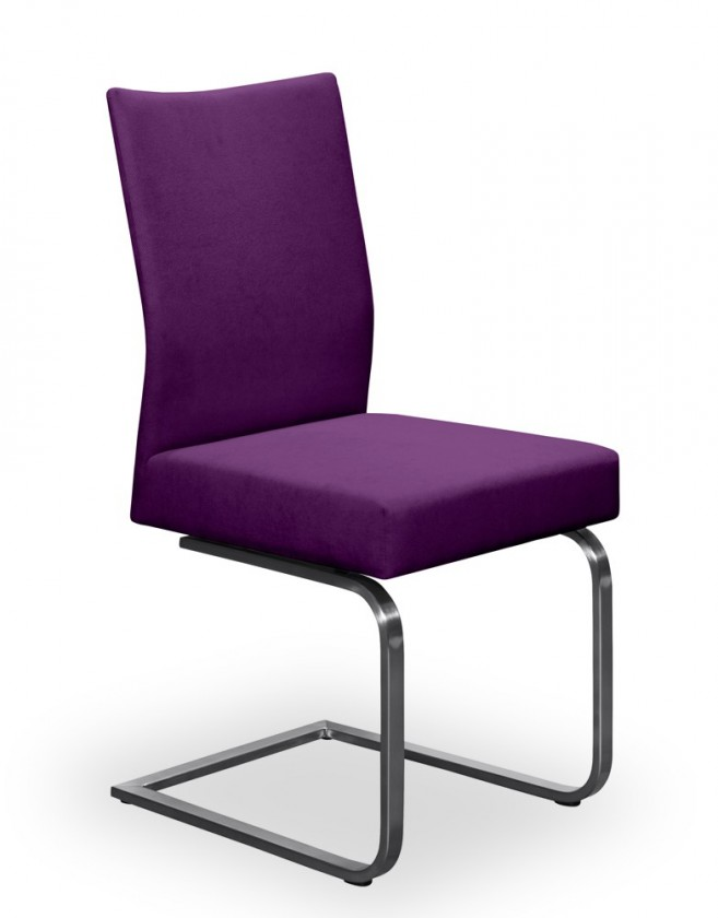 Stolička Set - hojdacia (oceľ nerez, fialová)