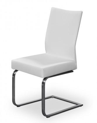 Stolička Set - hojdacia (oceľ nerez, pravá koža hnedá)