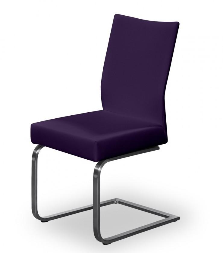 Stolička Set - hojdacia (oceľ nerez, temne fialová)