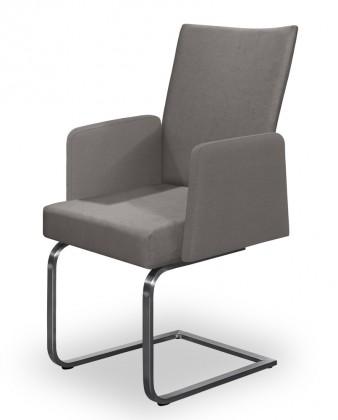 Stolička Set - hojdacia, podrúčky (oceľ nerez, svetle sivá)