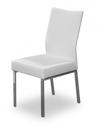 Stolička Set (oceľ nerez, eko kože biela)
