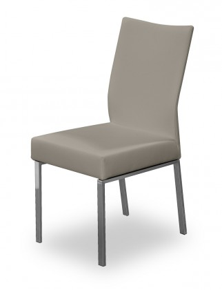 Stolička Set (oceľ nerez, eko kože sahara)