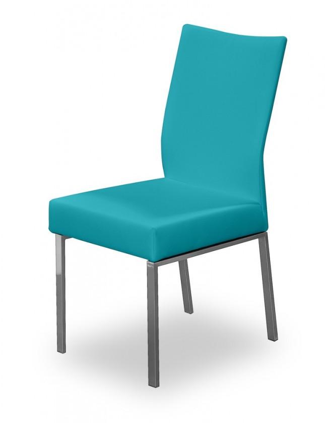 Stolička Set (oceľ nerez, petrolejová)