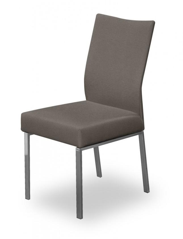 Stolička Set (oceľ nerez, sivohnedá)