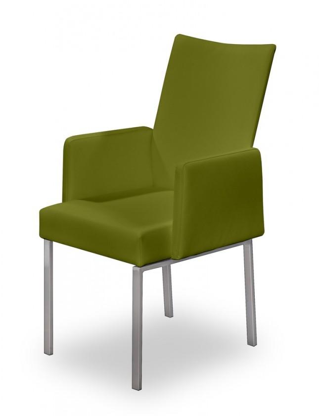 Stolička Set - podrúčky (oceľ nerez, olivová)