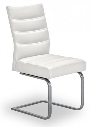 Stolička Set - prešívaná, hojdacia (oceľ nerez, biela)