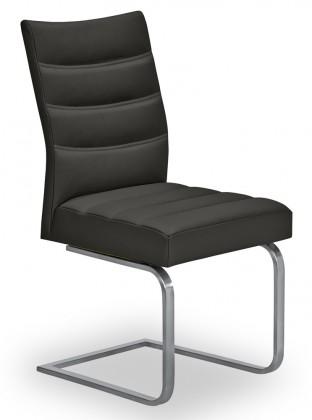 Stolička Set - prešívaná, hojdacia (oceľ nerez, čierna)