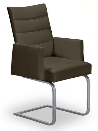 Stolička Set - prešívaná, hojdacia, podrúčky (oceľ nerez, sahara)