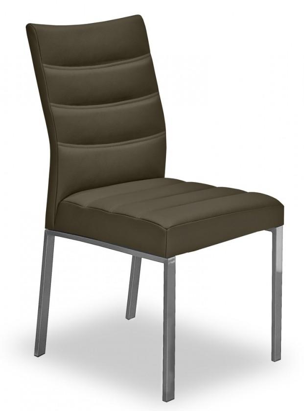 Stolička Set - prešívaná (oceľ nerez, eko kože sahara)