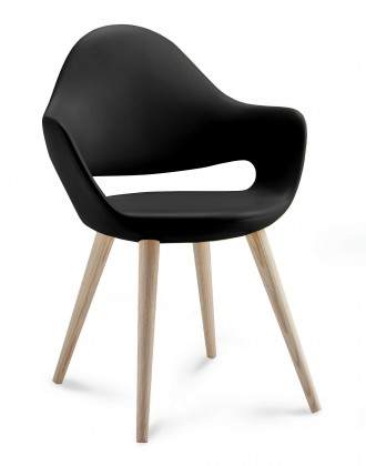 Stolička Soft-L  (Čierna)