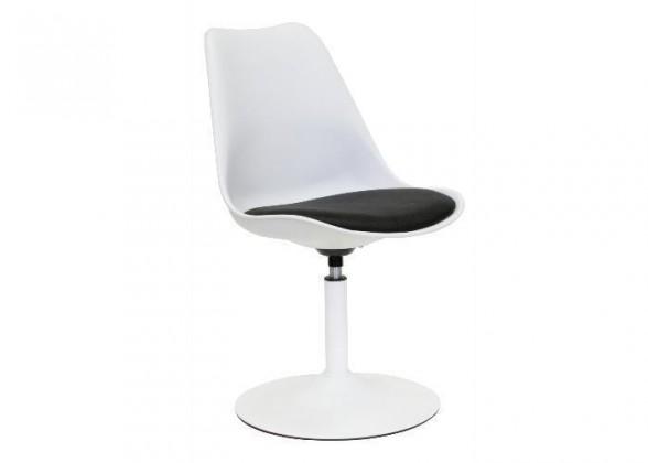 Stolička Tequila - Jedálenská stolička (biela, eko koža čierna)