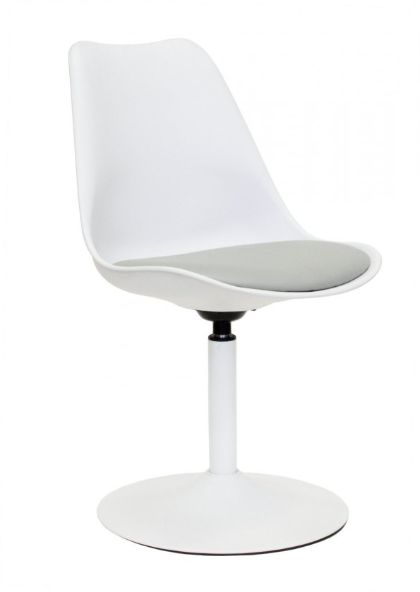 Stolička Tequila - Jedálenská stolička (biela, eko koža sivá)