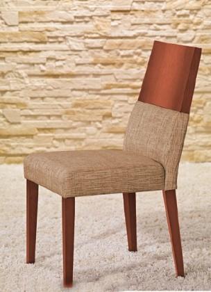 Stolička Timoteo - Jedálenská stolička (čerešňa/béžová)
