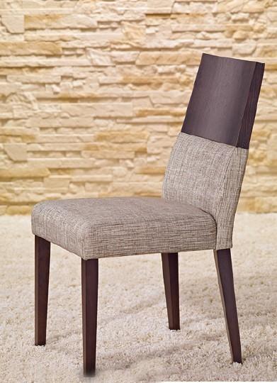 Stolička Timoteo - Jedálenská stolička (wenge/sivá)
