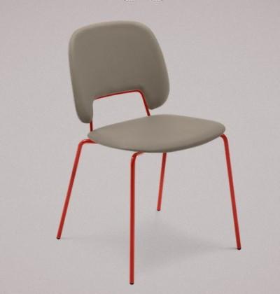 Stolička Traffic (lak červený matný, plast pieskový)
