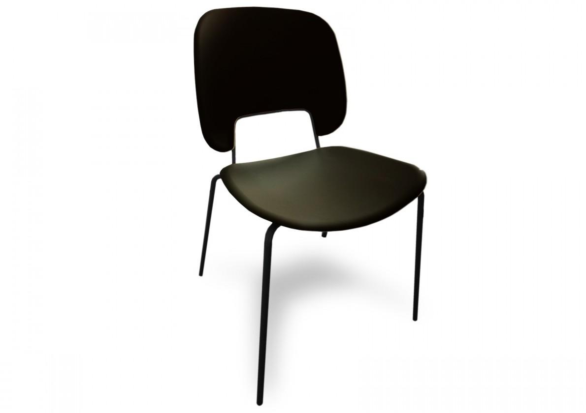 Stolička Traffic (lak čierny matný, plast čierna)