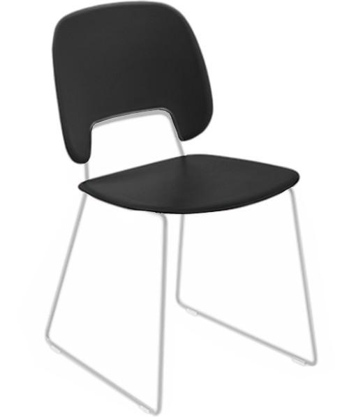 Stolička Traffic-t (lak biely matný, plast čierna)