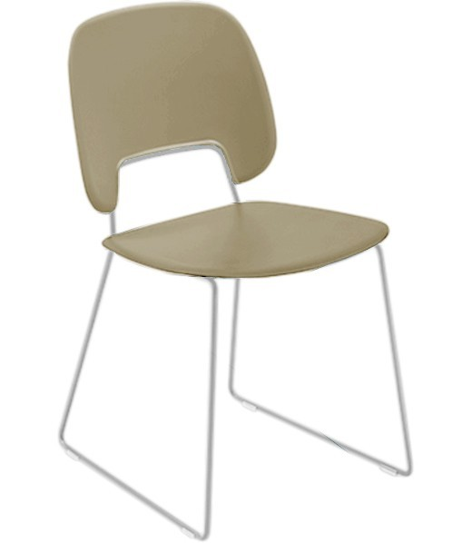 Stolička Traffic-t (lak biely matný, plast pieskový)