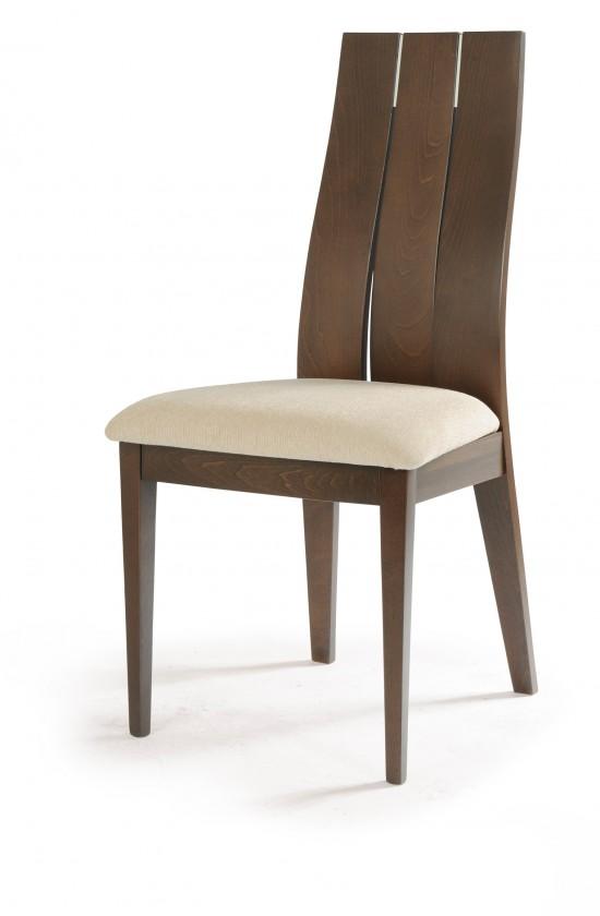 Stolička TRECIA(buk, morenie orech,poťah krémový)