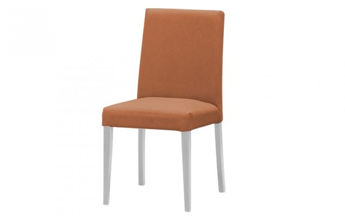 Stolička Uno(biela/carabu terracotta 75)